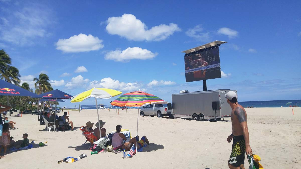 Mobile LED Screen at Swatch Beach Volleyball FIVB World Tour Finals
